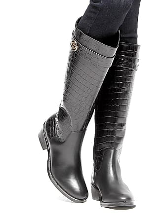 29a32dd02 Shoestock Bota Couro Montaria Shoestock Croco Feminina - Feminino