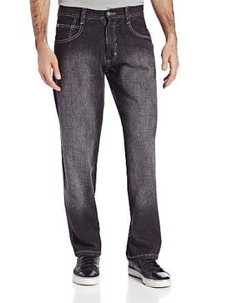 Southpole Mens 4180 Relaxed Fit Cross Hatch Blast Denim in Black Sand, 32x30