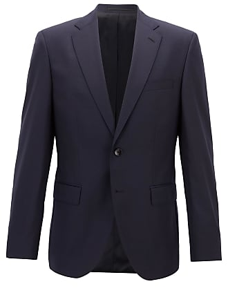 BOSS Regular-fit virgin wool jacket with AMF stitching