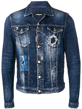 Dsquared2 distressed denim jacket - Blue