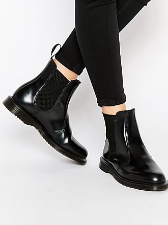aa5954fa5dd Dr. Martens Kensington Flora Black Chelsea Boots - Black