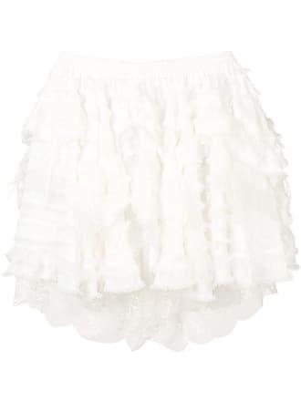 Faith Connexion tiered lace hem mini skirt - White