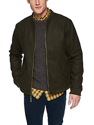 Rvca Mens Collective Bomber Jacket, Olive Heather, XL