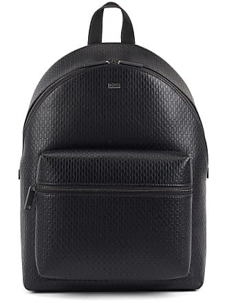 BOSS Backpack in monogram-printed Italian leather