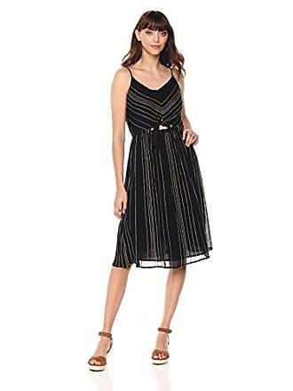 058398b2b7 Michael Stars Womens Beach Stripe peek-a-Boo midi Dress, Black, Small
