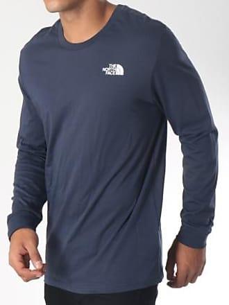 682646cc4139c The North Face Tee Shirt Manches Longues Simple Dome Bleu Marine Blanc