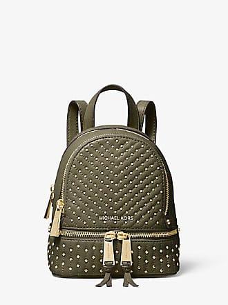 Michael Kors Rhea Mini Studded Leather Backpack