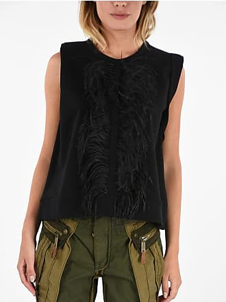 N°21 Top with Ostrich Feathers Größe 40