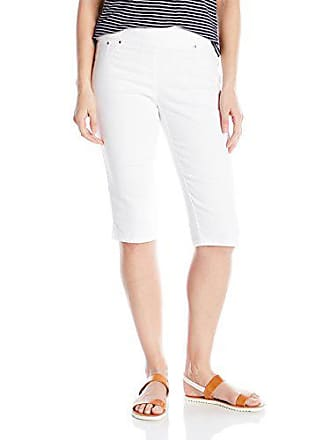Ruby Rd. Womens Pull-on Extra Stretch Denim Clamdigger, White 6