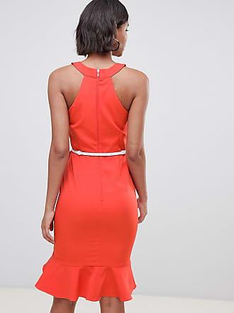 6243bddcf2a Paper Dolls drill detail sleeveless dress with belt - Red