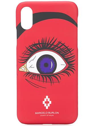 Marcelo Burlon Capa para iPhone X com estampa - Vermelho