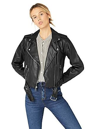 0a1f9923 Levi's Womens Faux Leather Asymmetrical Belted Motorcycle Jacket, Black,  X-Small