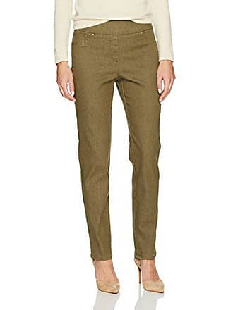 Ruby Rd. Womens Pull-on Colored Extra Stretch Denim Pant, Olive, 8