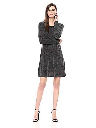 Karen Kane Womens Silver Metallic Chloe Dress, Large