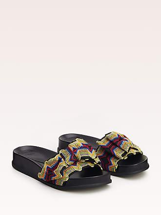 Alexandre Birman Fiocchi Pool Slide - 35.5 Black Nappa Leather