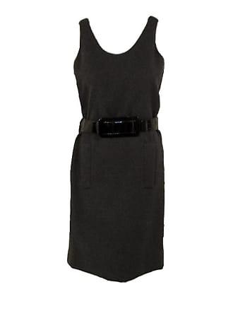 47dc586b45 Geoffrey Beene Sexy Grey Wool Shift Dress W. Black Wide Belt