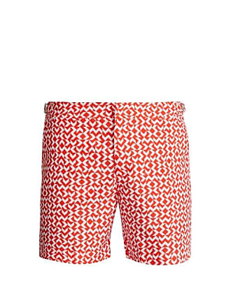 134af928e6bd4 Orlebar Brown Bulldog Frecce Print Swim Shorts - Mens - Orange