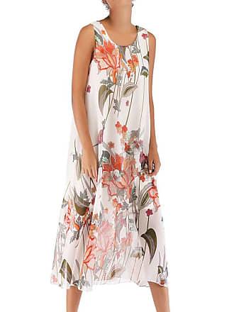 a46d321065 Moretime Dresses for Womens UK, 2019 Sale Summer Casual Elegant Boho Floral  Print Beach Style