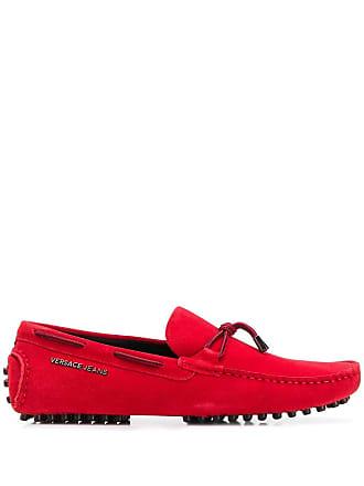Versace Jeans Couture Mocassim com amarração - Vermelho