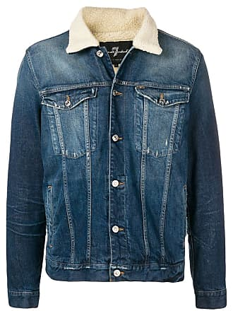 7 For All Mankind faux shearling trucker jacket - Blue