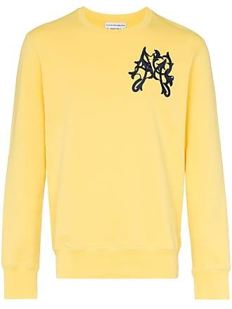 Alexander McQueen embroidered logo sweatshirt - Yellow