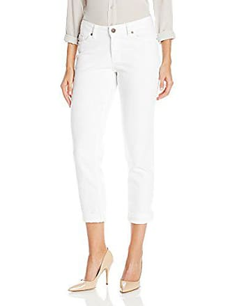 Lee Lee Womens Modern Series Curvy-Fit Ruby Boyfriend Jean, White, 0 Short