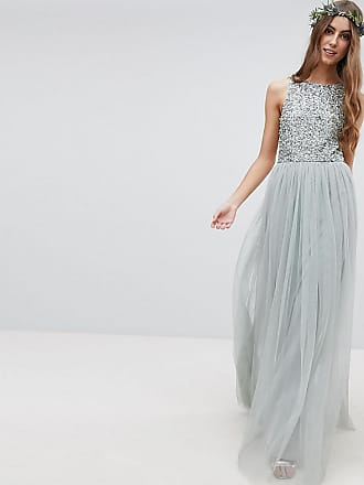 1fc3d9f5 Maya Sleeveless Sequin Bodice Tulle Detail Maxi Bridesmaid Dress With  Cutout Back