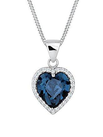 09520d4a4b24 Elli Eli - Collar con Colgante para Mujer de Plata de Ley con Cristales  Swarovski 45