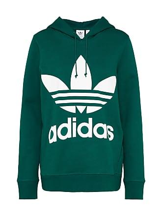 3822439fede adidas Sweatshirt Trefoil donkergroen / wit