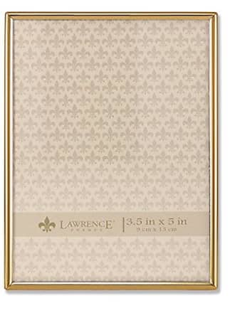 Lawrence Frames 3.5x5 Simply Gold Metal Picture Frame