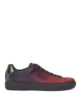 BOSS Tennis-inspired sneakers in dgrad Italian velvet