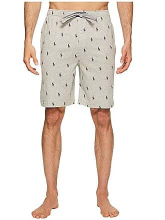 7bec6ff91 Polo Ralph Lauren Knit Sleep Shorts (Andover Heather Cruise Navy AOPP) Mens  Pajama