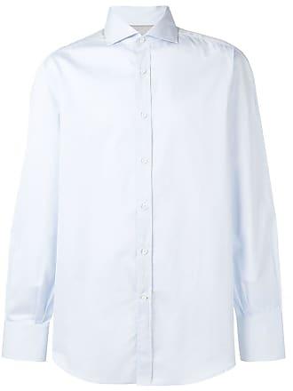 Brunello Cucinelli Camisa com colarinho pontiagudo - Azul