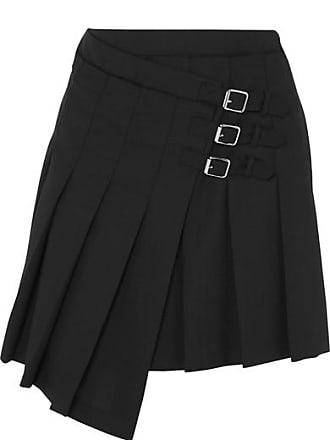 2bdd80b52 McQ by Alexander McQueen Wrap-effect Pleated Wool-twill Mini Skirt - Black