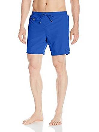 7cfe4cf7 HUGO BOSS BOSS Mens Leafish Swim Trunk, Blue, XX-Large