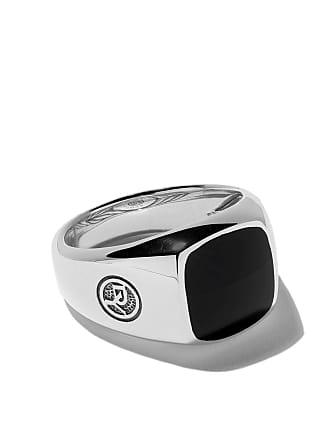David Yurman Exotic Stone onyx signet ring - Ssbbo
