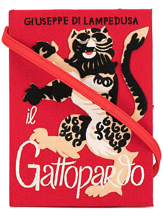 Olympia Le-Tan Clutch livro Gatopardo - Vermelho