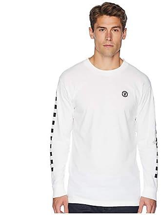 c5f1aefcba1be5 Vans Classic Circle Long Sleeve T-Shirt (White) Mens Long Sleeve Pullover