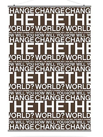 Inhabit Change the World Canvas Wall Art Orange and Chocolate - CTWOCH_3424C