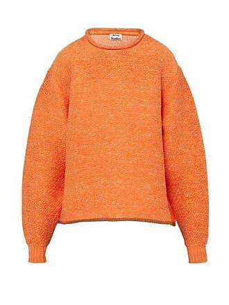 Acne Studios Oversized Knitted Sweater - Mens - Orange