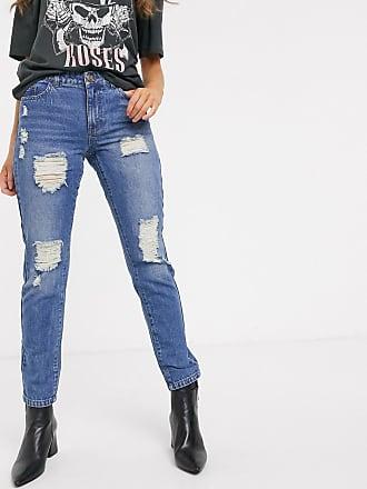 Jacqueline de Yong Jazz - Zerschlissene Boyfriend-Jeans-Blau