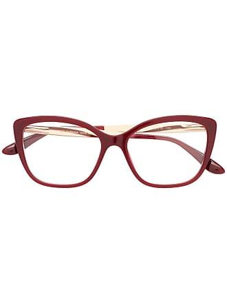 Dolce & Gabbana Eyewear cat-eye frame glasses - Vermelho