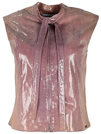 35fa81b4707a2 Chanel Purple Iridescent Lizard Effect Zip Up Vest top Sz Fr36 us2