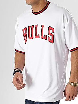 New Era Tee Shirt Tipping Wordmark Chicago Bulls 11860066 Blanc 13c39c9ba60
