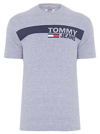 Tommy Jeans CAMISETA MASCULINA ESSENTIAL BOX LOGO - CINZA