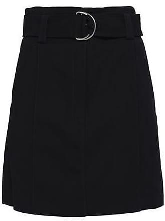 A.L.C. A.l.c. Woman Bronx Belted Cady Mini Skirt Midnight Blue Size 10