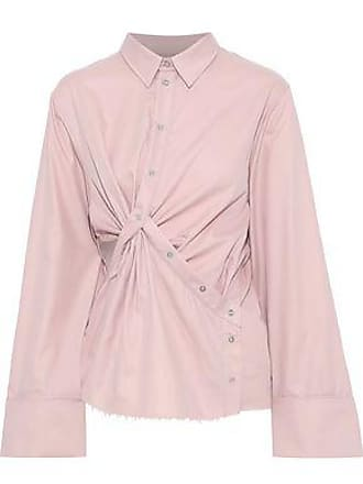 60c55f2795f782 Marques Almeida Marques Almeida Woman Twist-front Cutout Cotton-twill Shirt  Blush Size L