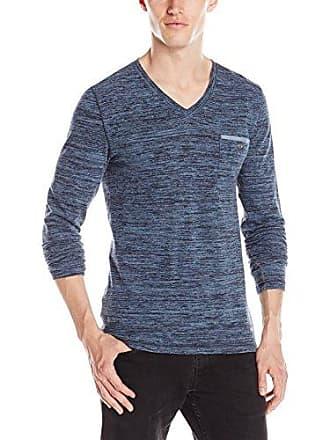 9e3fc0c3 HUGO BOSS BOSS Orange Mens Long Sleeve V-Neck Chest Pocket Shirt, Blue,
