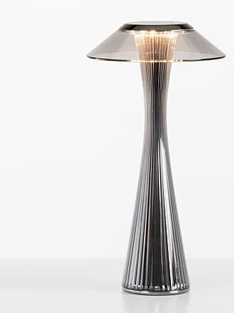 Kartell SPACE-Lampe à poser sans fil LED H30cm Titane Kartell - designé par Adam Tihany