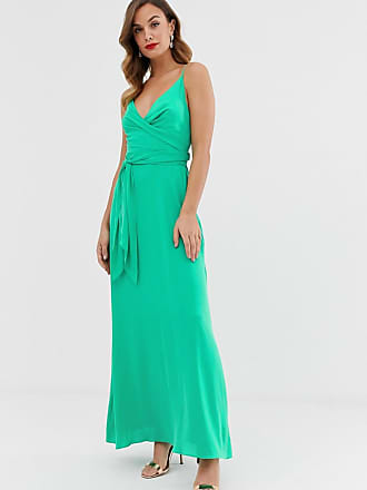 c600517840fc Asos cami wrap maxi dress with tie waist - Green